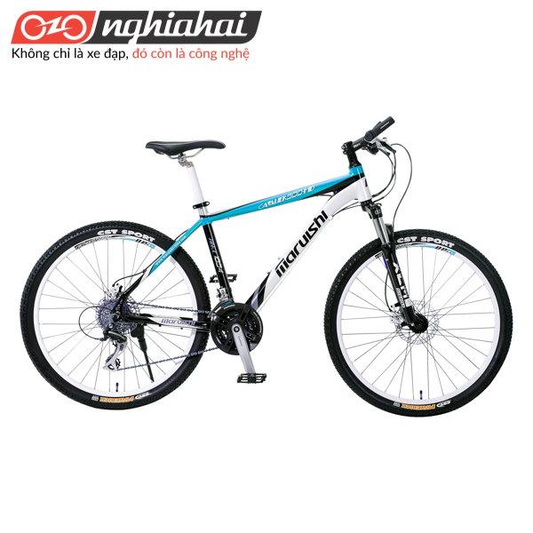 Xe đạp địa hình Cavalier 500HD xanh trang den