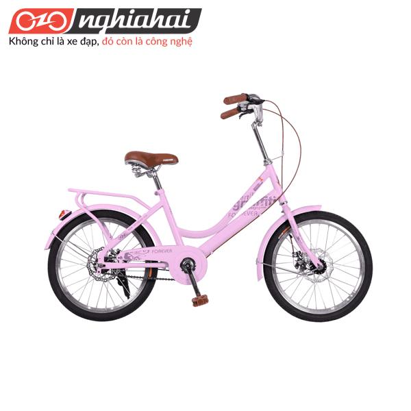 Xe đạp Vĩnh Cửu cho nữ 20inch MK hong