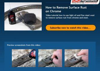 Làm thế nào để loại bỏ lớp gỉ sét trên bề mặt Crom 2