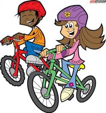 Đạp xe và đi bộ tới trường 1