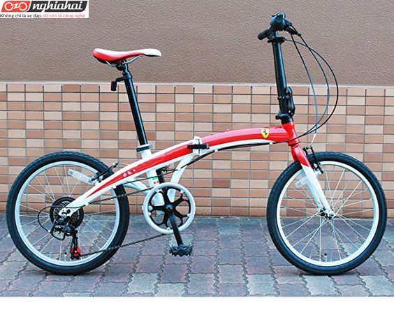 Xe đạp gấp Ferrari 7